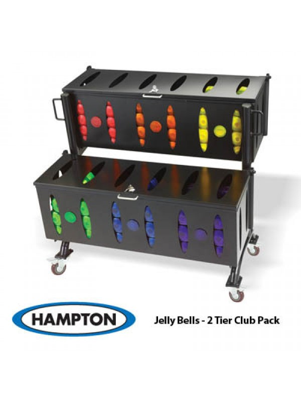 Hampton Group X Club Pack Jelly Bell Urethane Aerobic Dumbbell 44 Pair Set (2.5 LB - 15 LB IN 2.5 LB INCREMENTS)