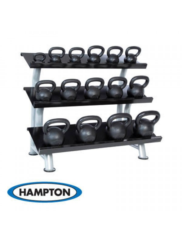 Hampton Kettle Bell Club Pack 20 Piece set with one 2T-FLT Rack (5-50 LBS IN 5 LB Increments)