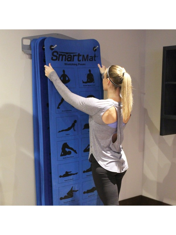 Prism Fitness Smart Wall Mounted Mat Rack Package