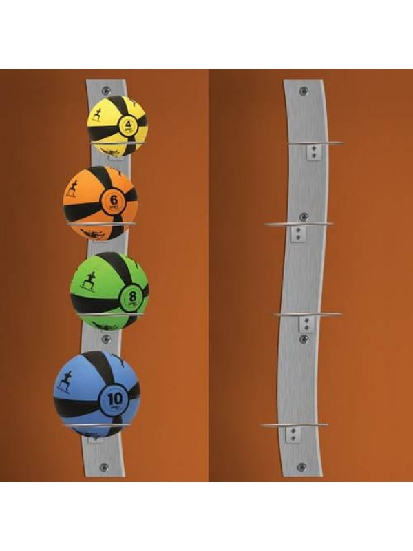 Prism Fitness Smart Wall Mounted Medicine Ball Rack