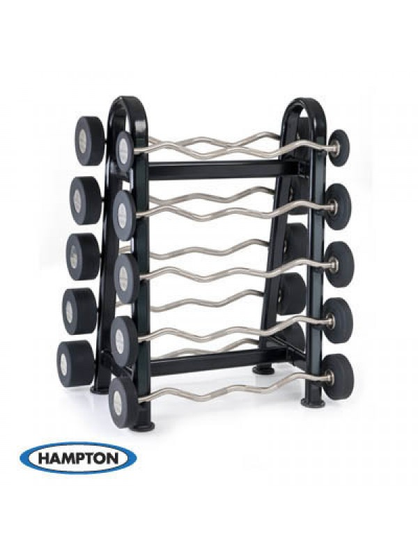 Hampton Urethane Curl & Straight Bars Barbell Club Pack Set (20 - 65 lbs in 5 lbs increments)